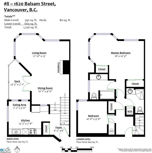 8 1620 BALSAM STREET - Kitsilano Townhouse for sale, 2 Bedrooms (R2174558) #20