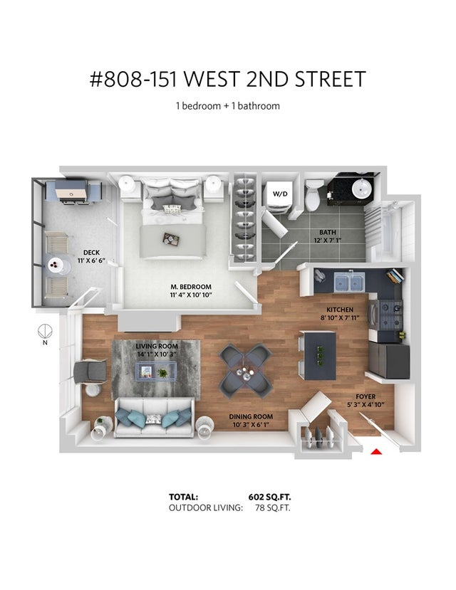 808 151 W 2ND STREET - Lower Lonsdale Apartment/Condo for sale, 1 Bedroom (R2281009) #20